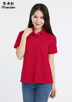 全棉polo半袖女款T恤